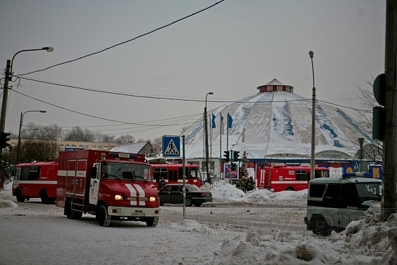 Как тушили цирк в Автово: фоторепортаж: Фото