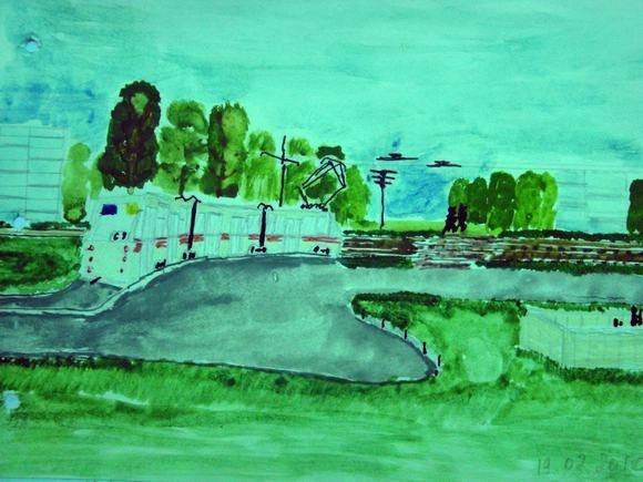 «Особый» художник влюблен в…трамваи: Фото
