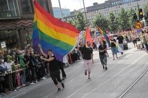 ЛГБТ-активисты устроили флешмоб на Дворцовой площади