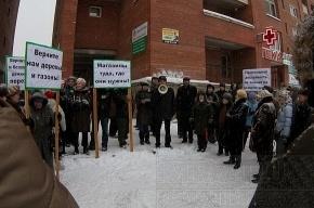 На Комендантском проспекте прошел митинг против коррупционных магазинов