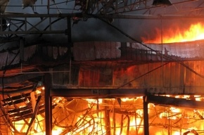 В Москве горел склад медикаментов
