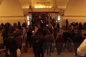 На станции метро «Невский проспект» давка