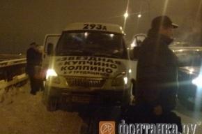 Авария на Витебском проспекте: у маршрутки отвалилось колесо