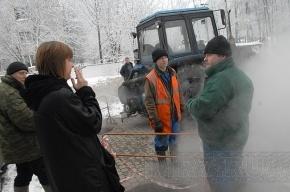 Озером кипятка в Купчино заинтересовались следователи