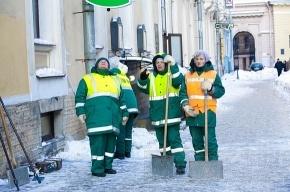 Смольный: улицы Петербурга сегодня будут чистить сотни людей и машин
