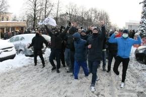 Шествие фанатов в Петербурге продолжается