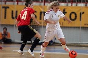 Женская сборная России по мини-футболу третий раз проиграла испанкам