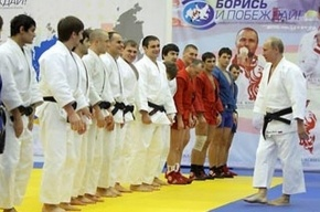 Путин в Петербурге вышел на татами