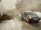 На Васильевском острове устраняют потенциальную аварию: Фоторепортаж