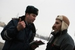 «Синие ведерки» напугали сотрудников ГИБДД: Фоторепортаж