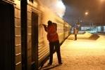 Хулиганы бросили в вагон электрички дымовую шашку: Фоторепортаж