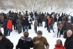 В Полежаевском парке сегодня ели гречневую кашу и стреляли из автоматов: Фоторепортаж