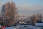 В области похолодало и деревни приобрели сказочный вид: Фоторепортаж