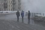 На Среднеохтинском проспекте прорвало трубу: Фоторепортаж