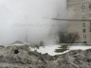 На Полюстровском проспекте прорвало трубу: Фоторепортаж