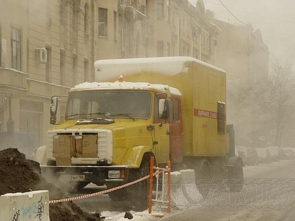 На Васильевском острове устраняют потенциальную аварию: Фото