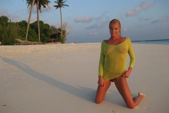 Первая фотосессия Анастасии Волочковой на Мальдивах: Фото