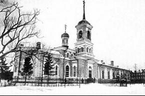 С церкви в Пушкине упал декоративный карниз