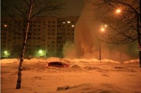 В Невском районе забил 15-метровый фонтан кипятка