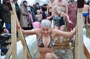 Крещенские купания на Большой Невке: фоторепортаж