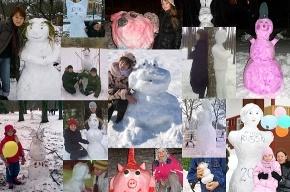 Во Фрунзенском районе сейчас проходит «Конкурс красоты среди снеговиков»