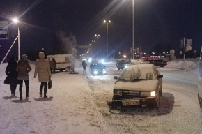 Фото аварии с участием «Скорой помощи» в Пушкине