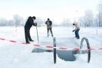 Фоторепортаж: «В Парке Победы купаются «Моржи блокадного батальона»»