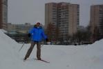 Сквер на улице Ивана Фомина - находка для лыжников: Фоторепортаж