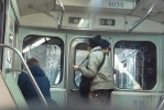 Хулиганская «роспись» вагона метро – фоторепортаж: Фоторепортаж