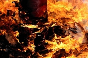 В Калькутте сожгли чучело Путина