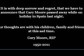 Скончался Гэри Мур