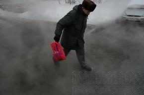 На улице Щербакова «парила» холодная вода