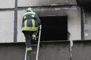 Пожар в Колпино потушили