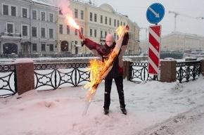 В Петербурге сожгли флаг около японского консульства