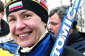 Депутат ЗакСа Егорова пропагандирует лыжи
