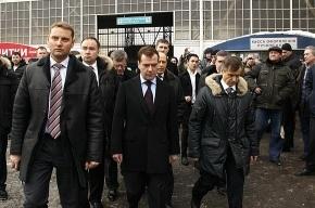 Медведев неожиданно оказался во «Внуково-1»