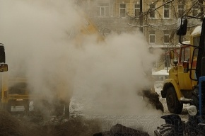 На Потемкинской улице прорвало трубу