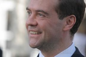 Дмитрий Медведев поужинал с королем Испании Хуаном Карлосом I