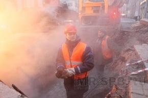 ГУП «ТЭК СПб»: Подача отопления и горячей воды на аварийном участке, сохраняется