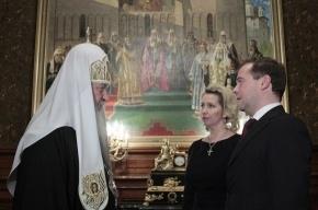 Президент с женой поздравили Патриарха