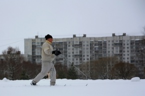Сквер на улице Ивана Фомина - находка для лыжников