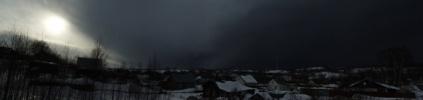 На Петербург с севера надвигается огромный снежный фронт: Фоторепортаж