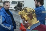 На проспекте Ударников взорвался автомобиль ГУП «ТЭК»: Фоторепортаж