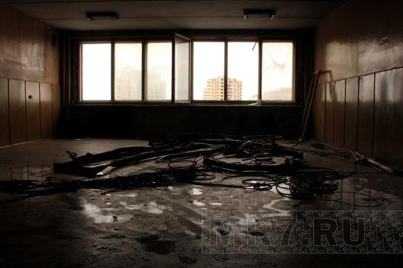 Общежитие на Двинской после пожара: фоторепортаж: Фото