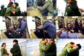 «Война» целовала женщин-полицейских взасос