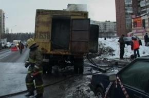 На проспекте Ударников взорвался автомобиль ГУП «ТЭК»