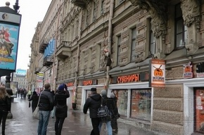 Хулиганы опять «повесили»  Матвиенко на Невском