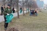 Аллею Чернобыльцев очистили от мусора: Фоторепортаж