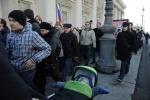 Фоторепортаж: «На митинге в Петербурге пострадал полуторагодовалый ребёнок»