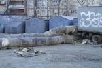 На Светлановском проспекте дети гуляют по опасным трубам: Фоторепортаж